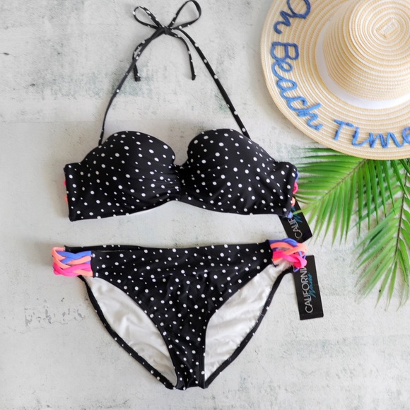 b0590b26e0 California Waves Swim | Space Dot Pushup Bikini Xl | Poshmark